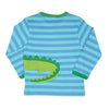 Image of Crocodile Wrap Around Long-sleeved T-Shirt - Organic Cotton