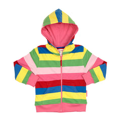 Organic Cotton - Girly Stripe Hoodie