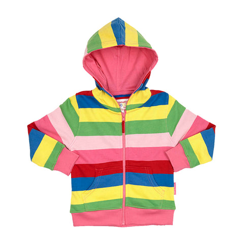 Toby Tiger Girly Stripe Hoodie