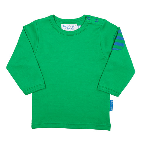 Image of Toby Tiger Green Stripe Long-sleeved T-Shirt 2 Pack