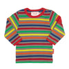Image of Grey Multi Stripe Long-sleeved T-Shirt 2 Pack - Organic Cotton
