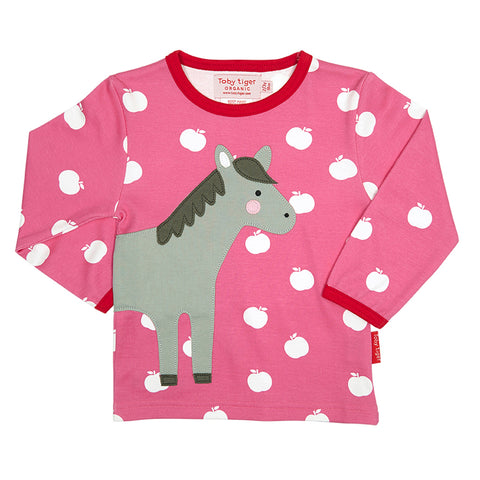 Horse Wrap Around Long-sleeved T-Shirt - Organic Cotton