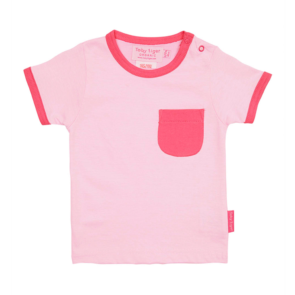 Pink Multi Stripe T-Shirt 2 Pack - Organic Cotton