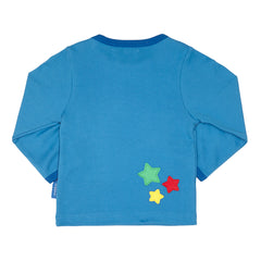 Applique Long-sleeved Shooting Star T-Shirt - Organic Cotton