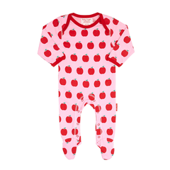 Organic Cotton - Apple Babygrows 2 Pack