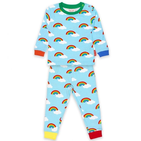 Image of Toby Tiger Rainbow Pyjamas - Organic Cotton