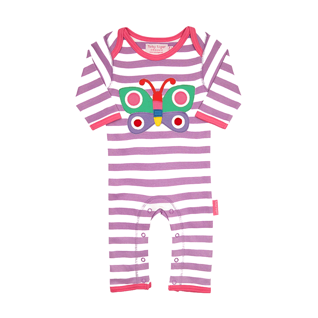 Toby Tiger Butterfly Sleepsuit