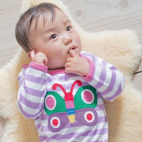 Image of Toby Tiger Butterfly Sleepsuit