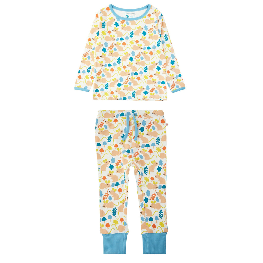 Piccalilly Pyjamas - Fieldmouse All Over Print