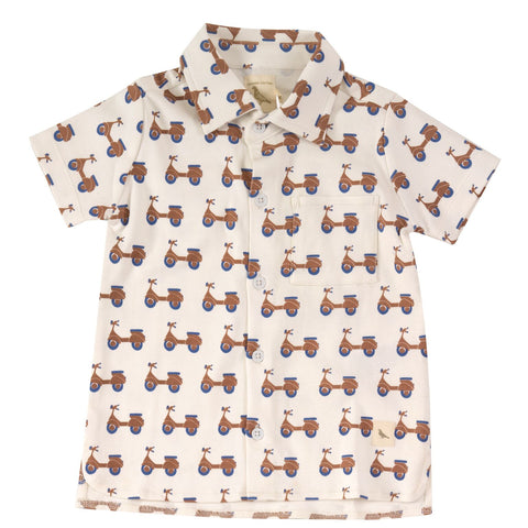 Pigeon Organics Printed Jersey Shirt - Scooters