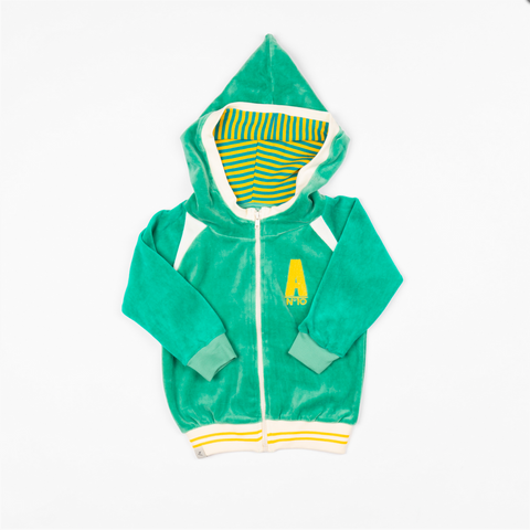 Image of Alba Robin Zipper Hood - Pepper Green