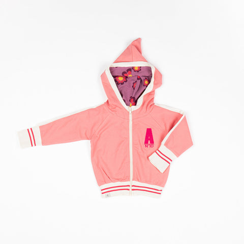 Image of Alba Robin Zipper Hoodie - Tea Rose