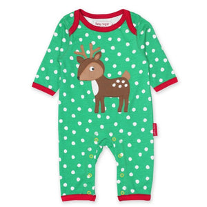 Toby Tiger Deer Sleepsuit - Organic Cotton