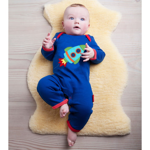 Image of Toby Tiger Rocket Sleepsuit