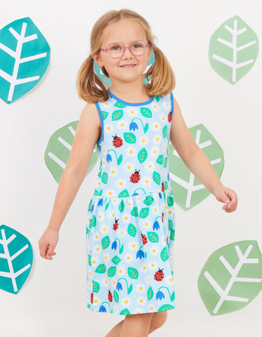 Toby Tiger English Garden Print Print Summer Dress