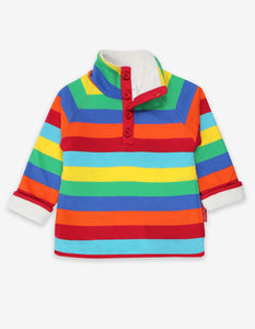 Toby Tiger Organic Multi Stripe Cosy Fleece Sweatshirt
