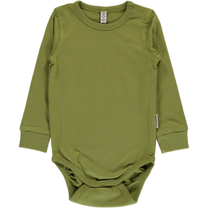 Maxomorra Long Sleeve Body - Apple Green