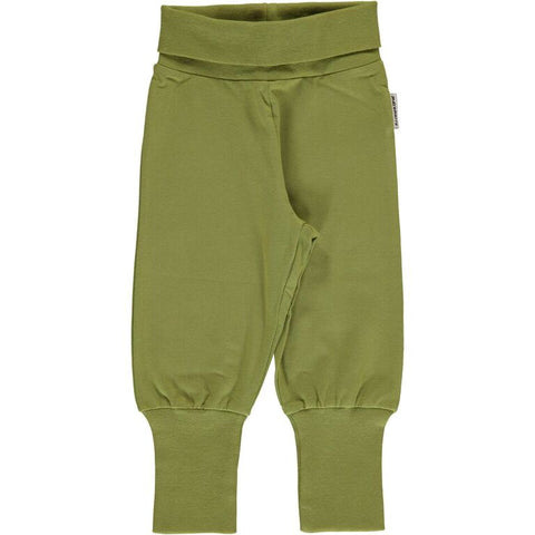Maxomorra Pants Rib - Apple Green