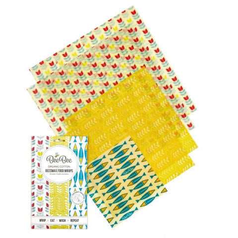 Bee Bee Family Pack Beeswax Wraps - Nature