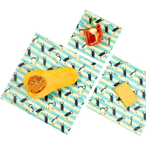 Bee Bee Mixed Size Pack Beeswax Wraps - Puffin