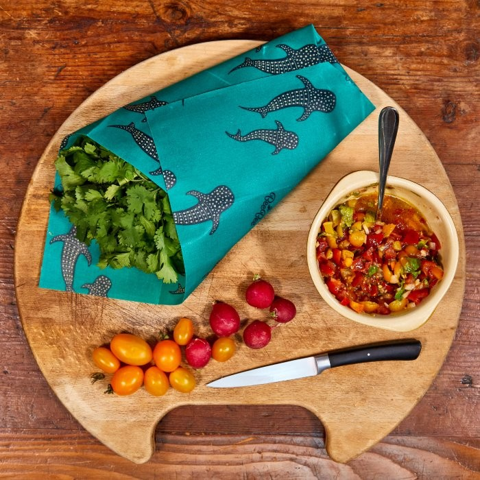 Bee Bee Single Wrap Beeswax Wrap - Puffin