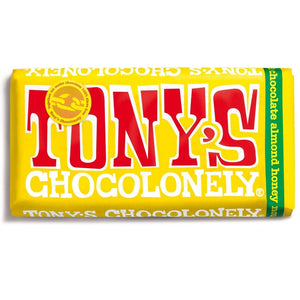 Tony's Chocolonely Fairtrade Almond Honey Nougat Chocolate 180g
