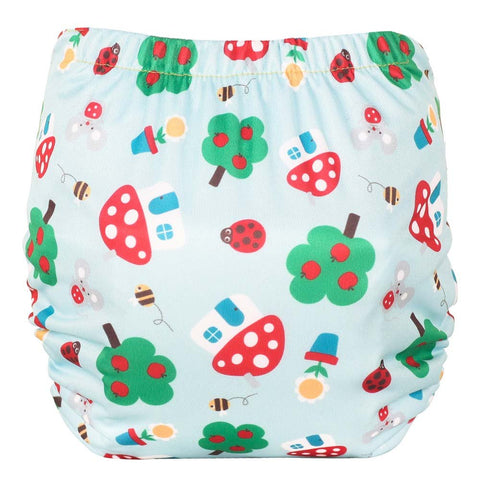 Image of TotsBots Easy Fit Star Nappy - Mushroom Town