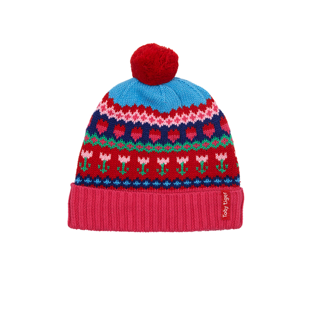Tulip Knitted Hat - Fleece Lined