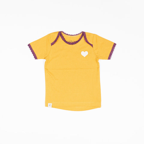 Alba Vera T-shirt - Bright Gold Beauty Needles