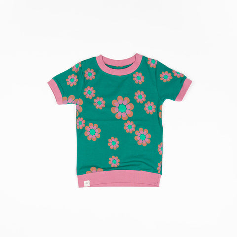 Image of Alba Vesta T-shirt - Alpine Green Flower Power