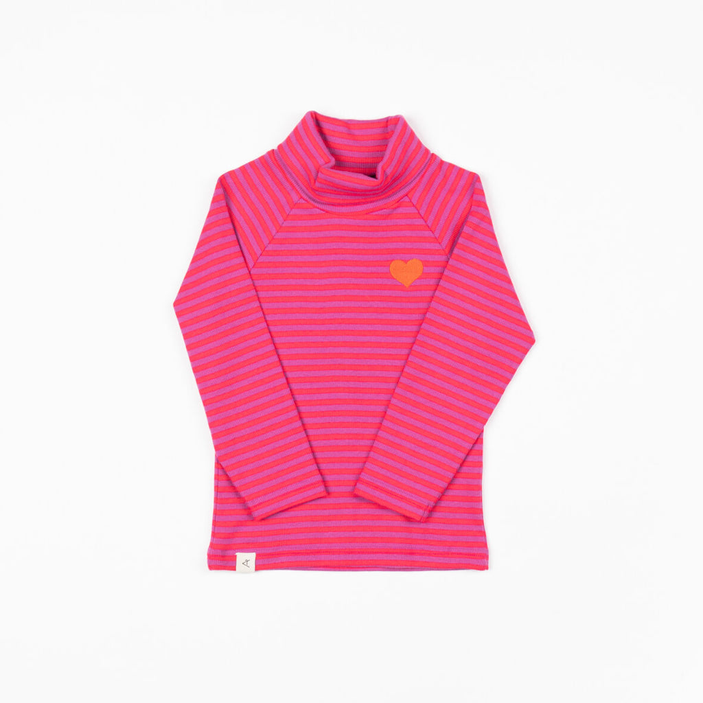 Alba Westwind Highneck - Dahlia Magic Stripes