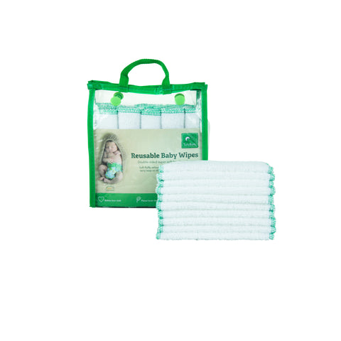 TotsBots Reusable Wipes - White