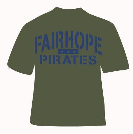 Fairhope Pirates Short Sleeve Gildan Army Green