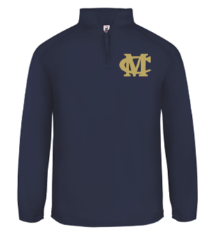 MOBILE CHRISTIAN 1/4 ZIP PERFORMANCE FLEECE NAVY