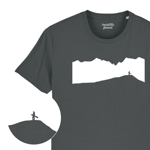 Snowboard Mountain View T Shirt