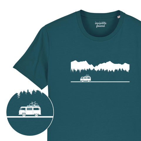 Classic Camper Van Mountains T Shirt