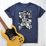 denim blue t-shirt with dead rock stars design