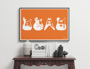 Iconic Guitars Art Print