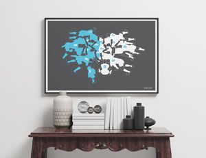 Rugby Scrum Art Print