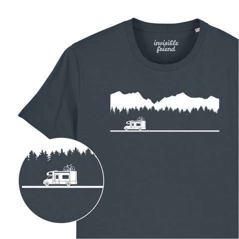Camper Van Mountains T Shirt