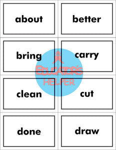 3rd Grade Dolch Sight Word Flash Cards