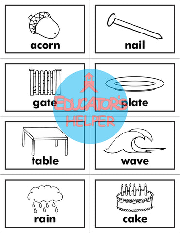 Short and Long A Picture Word Sort