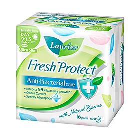 Laurier Fresh Protect Day Ultra Slim 22.5cm 16s/12