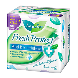 Laurier Fresh Protect Night Ultra Slim 30cm 12S/12