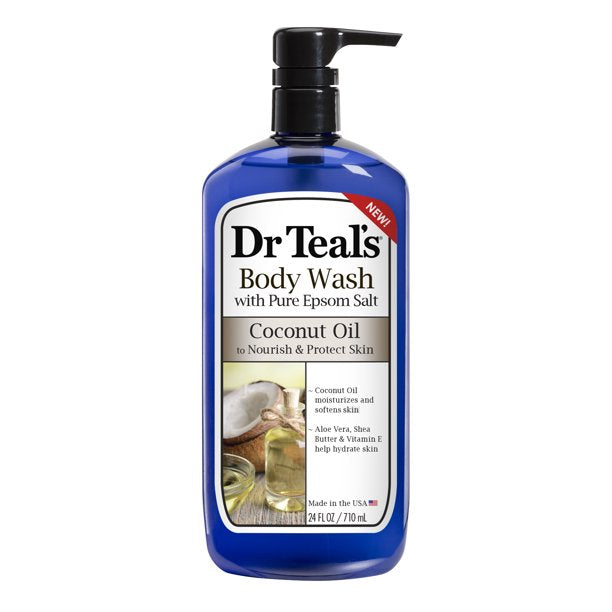 Dr Teal's Coconut Oil Body Wash 24oz 4/4