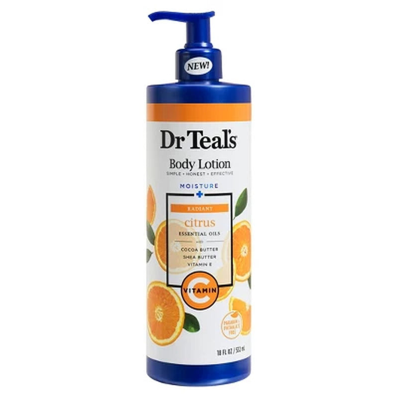 Dr Teal's Vitamin C Body Lotion 18oz/12