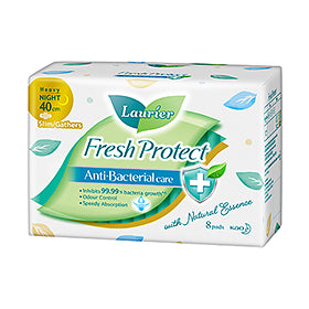 Laurier Fresh Protect Night Slim with Gathers 40cm 8S/18