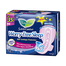 Laurier Worry Free Sleep Night Slim Wing 35CM 12S/24