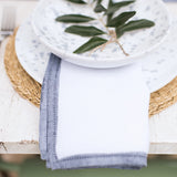 handmade in Italy Hand-painted linen hemstitch napkin  from Apulia