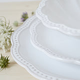 handmade in Italy elegant ceramic dinnerware set from Apulia Grottaglie Fasano